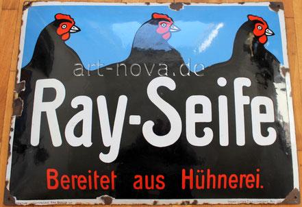 großformatiges Emailschild Ray-Seifen