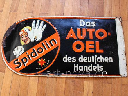 Blechschild Spidolin, das Autooel des Deutschen Handels eines mir unbekannten Grafikers.
