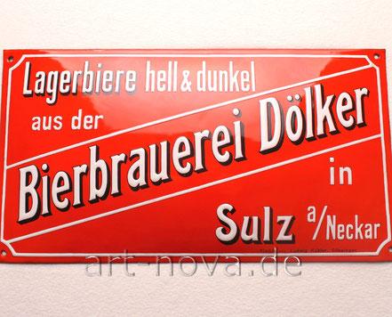 Traumhaftes Emailschild von Ludwig Kübler, Göppingen um 1910