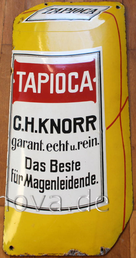 außergewöhnliches Emailschild Knorr Tapioca aus Heilbronn