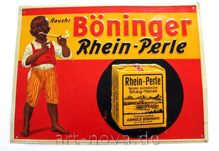 Blechschild Böninger Rhein-Perle