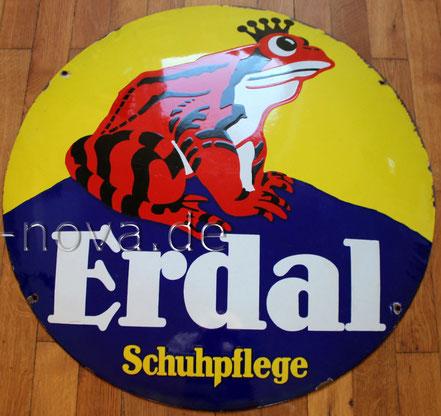 unrestauriertes gut erhaltene Emailschild Erdal Schuhpflege