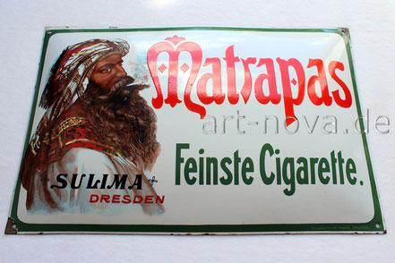 Emailschild Matrapas Cigarette Sulima Dresden