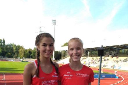 Johanna Pulte und Carolin Schmidt (bei der U16-DM im vergangenen Sommer)