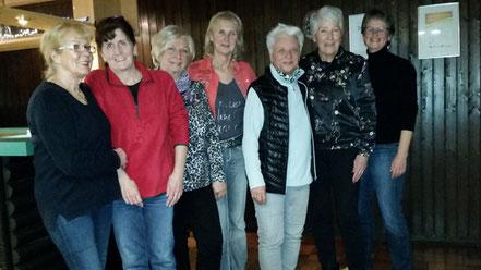 v.l.n.r.: Edeltraud Kutz, Ursula Hasel, Ingrid Merz, Sonja Reinauer, Margit Faehndrich, Dorothee Frey, Angelika Frehn