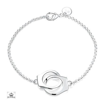 bracelet femme tendance menottes femmes bijoux fantaisie en argent