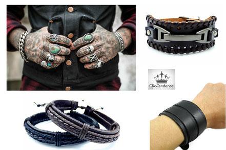 bracelet cuir accessoire de mode