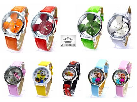 montres quartz originales et colorées