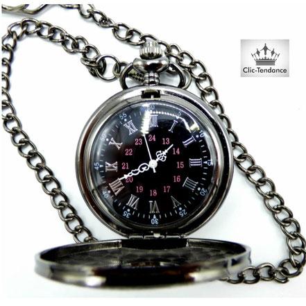 montre à clapet metal cadeau original et décalé