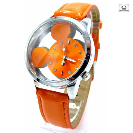 Montre enfant orange - colorée et fun