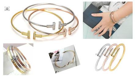 jonc , manchette et bracelet femme