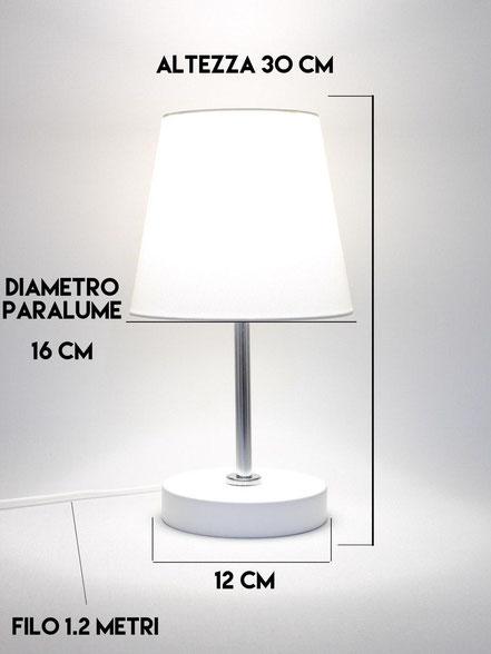 DIMENSIONI LAMPADA DA COMODINO MOD. DISCO 1