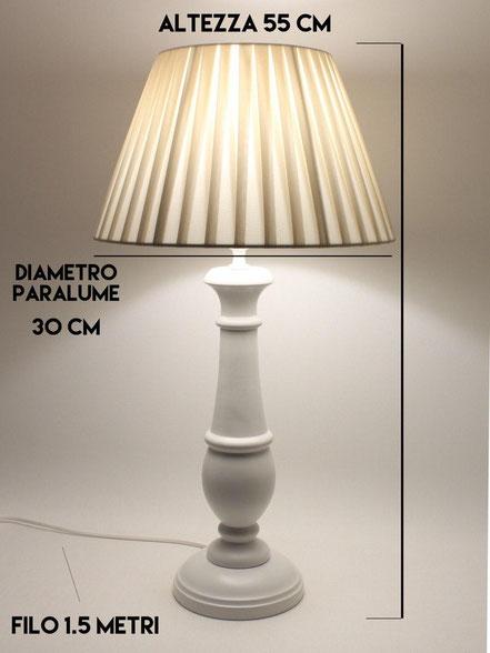 Schema in dettaglio per la lampada da tavolo in legno Chic.