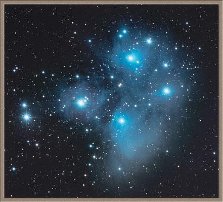 Messier 45 - die Plejaden   Bildausschnitt                             MeixnerObservatorium - Bildausschnitt              MeixnerObservatorium