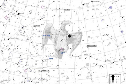 Wega - Alpha Lyrae - Aufsuchkarte - MeixnerObservatorium m. Guide7