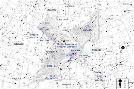 Deneb - Alpha Cygni - Aufsuchkarte  MeixnerObservatorium Guide7
