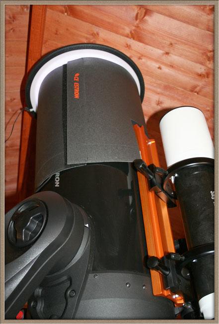 Anfertigung von Flats mit adaptierter Kamera und HyperStar - mit Taukappe    MeixnerObservatorium