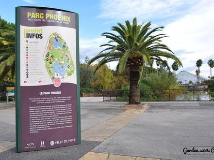 Entrée du Parc Phoenix à Nice