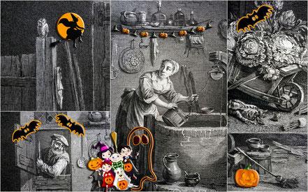 Visuel de l'événement. Jean Daullé d'après Teniers, La Ménagère flamande, Abbeville, Musée Boucher-de-Perthes (détails)