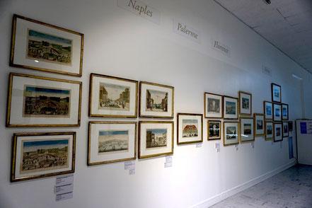 Vues d'optique des villes italiennes / vue partielle de l'exposition au musée d'Abbeville, avril-septembre 2017 / photo Johanna Daniel