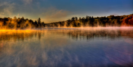 Misty Morning on Old Forge Pond - Old Forge , NY - ADK0022