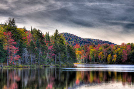 Autumn Reflections on West Lake - Old Forge, NY - ADKA014