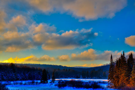 January Sunset on the Moose River - ADKW006