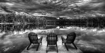 ADK Calm - West Lake in Old Forge, NY - BW012