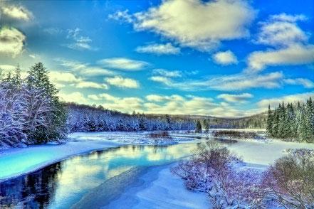 Winter at the Green Bridge - ADKW014