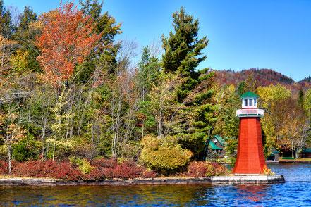 Shoal Point Lighthouse on Fourth Lake - ADKO001