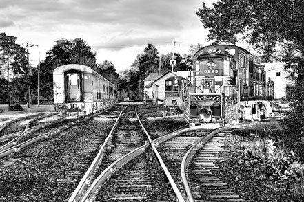 Trains on the Tracks - Thendara, NY - BW010
