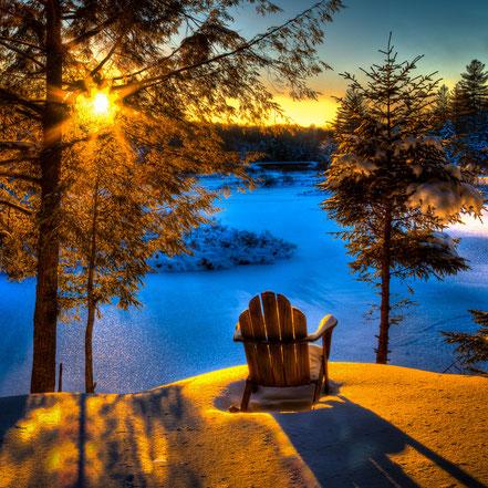 Moose River Sunset - Thendara, NY - ADKW010