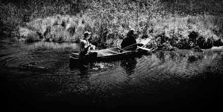 Fishing the Moose River - Old Forge, NY - BW001