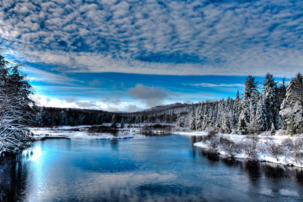 The Moose River in Early December - ADKW008