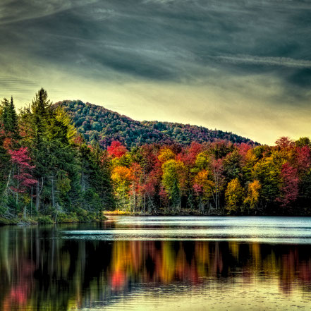 Autumn Reflections on West Lake - Old Forge - ADKA026