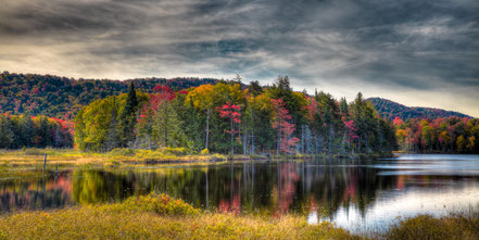 Autumn Color on West Lake - Old Forge, NY - ADKA013
