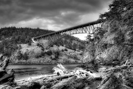 The Deception Pass Bridge II - Whidbey Island, WA  - BW002