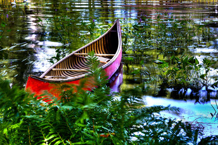Old Red Canoe - Old Forge, NY - ADKCK006