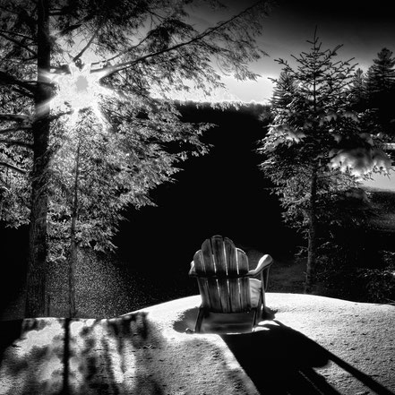Sun and Shadows in the Adirondacks - BW006