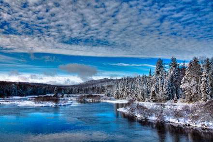 A Beautiful Winter Day at the Green Bridge - ADKW004