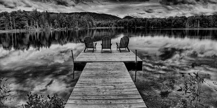 Scenic Docks - West Lake in Old Forge, NY - BW011