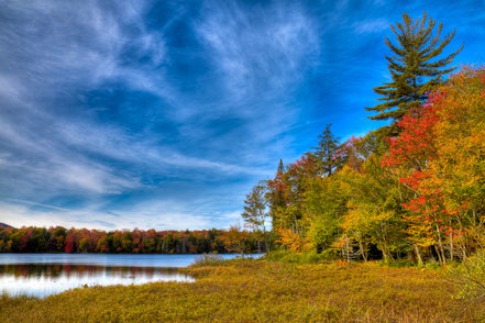 A Beautiful Autumn Day on West Lake - Old Forge, NY - ADKA016
