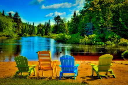A Place to Relax at Singing Waters, Webb, NY - ADK019