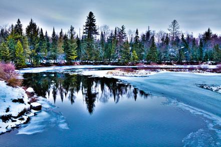 The Moose River in December - ADKW002