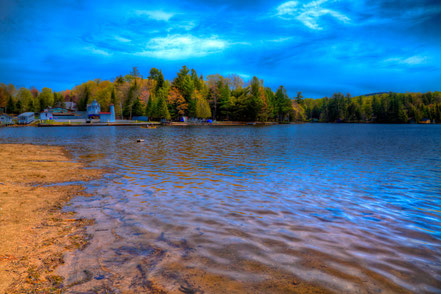 Old Forge Pond During the 2015 Paddlefest - ADK0015