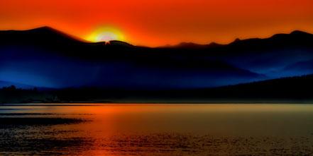 Selkirk Sunrise on Priest Lake- AAL010