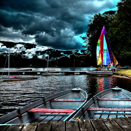 Sailing After the Storm - White Lake, New York - ADK026