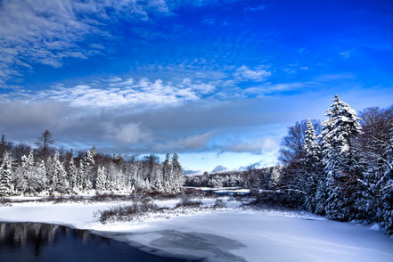 A Cold Winter Day at the Green Bridge - ADKW003