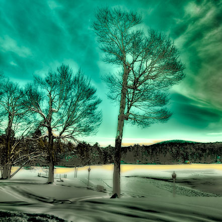 Late Sun on Old Forge Pond - Old Forge, NY - ADKW013