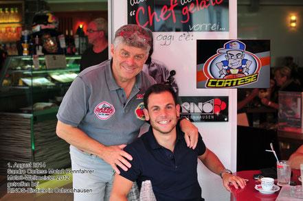 Rino, der Chef der Eisdiele mit Sandro Cortese
